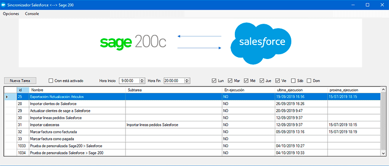 sincronizador sage 200 salesforce