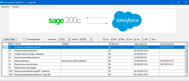 sincronizador sage 200 salesforce