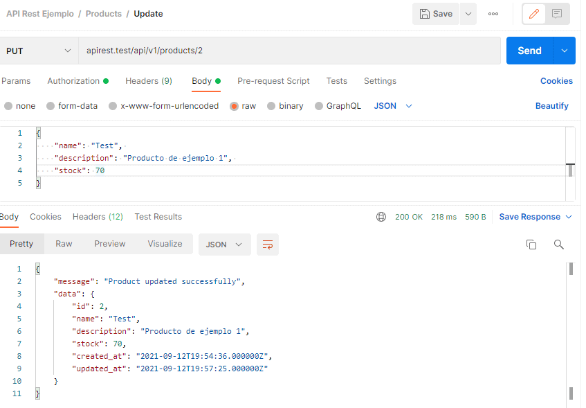 Laravel 8 API REST